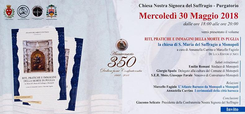 Presentazione Atlante Barocco MONOPOLI, 30 maggio 2018