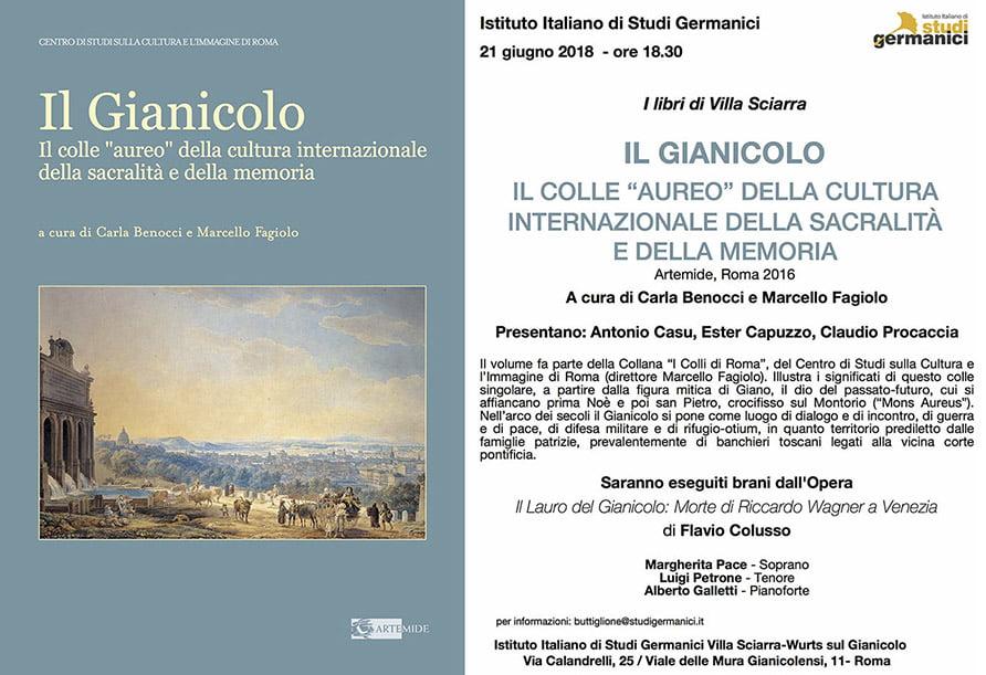 Presentazione libro GIANICOLO e concerto